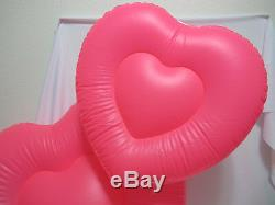 (1) Pre-owned Victoria's Secret PINK Inflatable Blow Up Heart Store Display RARE