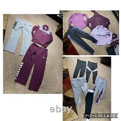 55 Pc Victoria Secret/ Pink Lot Yoga Ultimate Pants Crews Hoodies Bling Sz Large