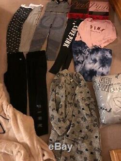 Huge Lot Victoria Secret Pink Size L New Blanket Robe Leggings Gift Sets