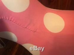 Large Victoria Secret PINK Display Dog Pink White Polka Dot 35