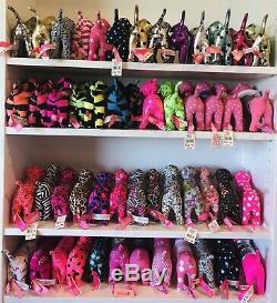 Lot Of 51 Victoria Secret PINK Dogs Stripe Vote Dot Floral Zebra Leopard MTV