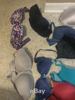 Lot of 24 Victorias Secret Bras 2 Soma bras sizes in description