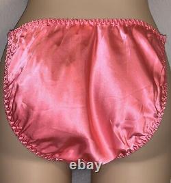 NEW VTG Victoria Secret 100% SILK Cami Bikini Panty Set Small Medium sissy 80s