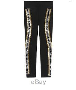 NEW Victoria Secret PINK Sequin Bling Full Zip Black Hoodie+Leggings Set Large