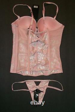 NWT $256 Victoria Secret Designer Collection Corset Bustier Set 34D M