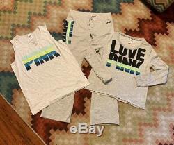 NWT & NWOT Victoria Secret PINK Set Lot Outfit Large Sweatpants Sweatshirt Tank