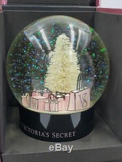 New VICTORIA SECRET 2019 HOLIDAY Snow Globe Christmas Sparkle Glitter Pink Black