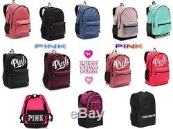 New VICTORIA SECRET PINK Campus Backpack, Collegiate Backpack Book Bag. Bling