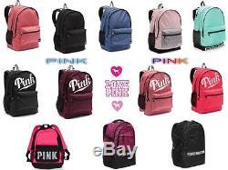 New VICTORIA SECRET PINK Campus Backpack, Collegiate Backpack Book Bag. Bling