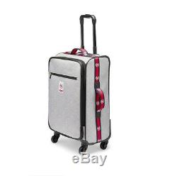 New Victoria's Secret PINK Wheelie Carry On Luggage Light Gray Marl Suitcase