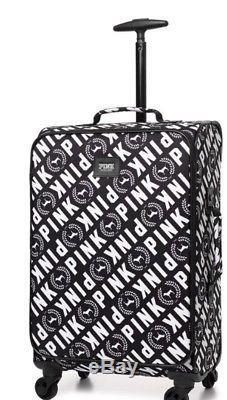 60c3fb0dd7f9 New Victoria's Secret PINK Wheelie Carry On Suitcase Luggage Black ...