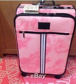 New! Victorias Secret Pink Travel Carry On Suit Case Wheelie tie dye