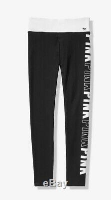 Nwt Victoria Secret PINK Oversized Tie Dye Campus Tee Logo Legging Set L XL