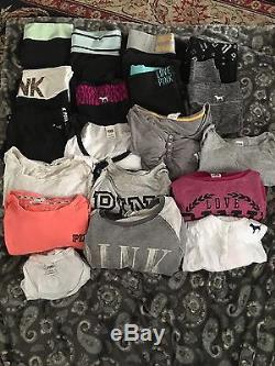 Pink Lot Of 19 Items Size Large Yoga Pants Tops A Great Deal Victoria's Secret