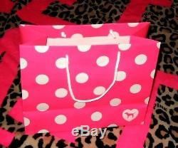 RARE VICTORIA SECRET PINK RHINETONES BLING HOODIE SWEATSHIRT sz L XL + Gift Bag