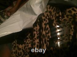 Rare! Victorias Secret PINK Storage Bin Cheetah Leopard Print MINT