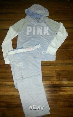 Size Large Lot Victoria Secret PINK Boyfriend Sweatpants Hoodie Bra Panties NWT