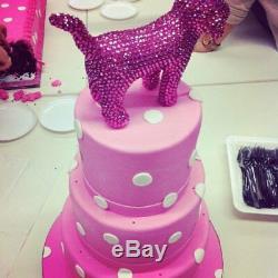 Swarovski Crystal Hand Stoned Victorias Secret Pink Dog