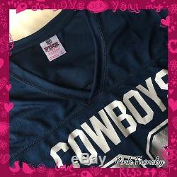VICTORIA'S SECRET PINK Dallas Cowboys NFL Football Collection Varsity Jersey Lrg