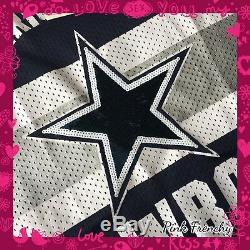 VICTORIA'S SECRET PINK Dallas Cowboys NFL Football Collection Varsity Jersey Lrg