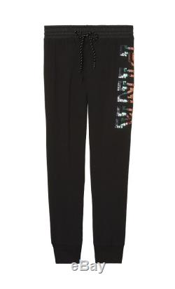 VICTORIA'S SECRET PINK Perfect Full-Zip Hoodie Black Rainbow Bling & Gym Pant L