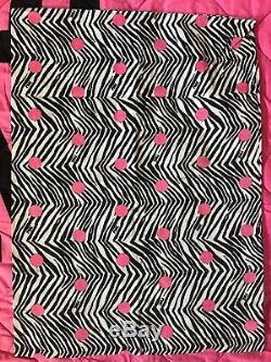 VS PINK Victoria Secret FULL REVERSIBLE Quilt COMFORTER Sheets Set Polka Dot EUC