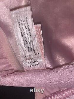VTG 90s VICTORIA SECRET Pink Second Skin Satin Lace Bikini Panty Sissy LARGE L