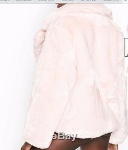 Victoria Secret Fashion Show 2018 Pink Faux Fur Coat Large