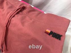 Victoria Secret PINK 3pc Set Oversized Slouchy Sweatshirt Sweatpants Headband L