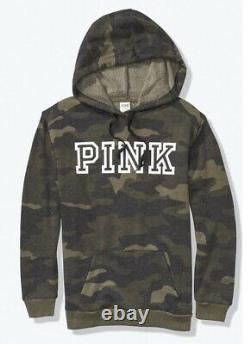 Victoria Secret PINK Camo Pullover Hoodie Sweatshirt Oversized XL/XXL