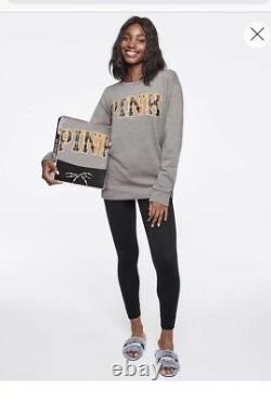 Victoria Secret PINK Campus Crew & Leggings Gift Set Large NIB Christmas gift