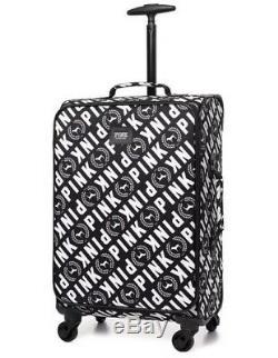 Victoria Secret PINK Graphic Logo Wheelie Suitcase Carry On Luggage