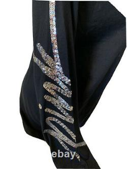 Victoria Secret PINK Halloween Campus BLING Sequins Tee Shirt & Leggings Pants L