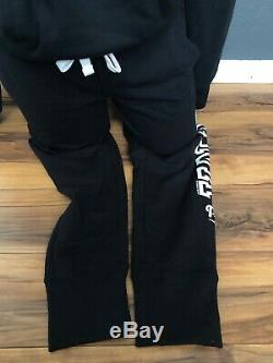 Victoria Secret PINK Hoodie & Skinny sweatpant joggers sweatsuit black NWT