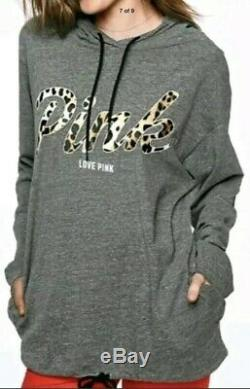Victoria Secret PINK Hoodie T & Leggings SetLEOPARD OVERSIZED S/M Last Set