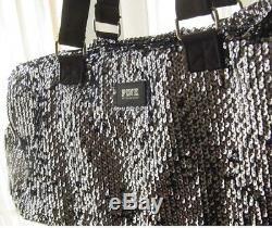 Victoria Secret PINK Large Bling Sequin Travel Duffle Gym Bag