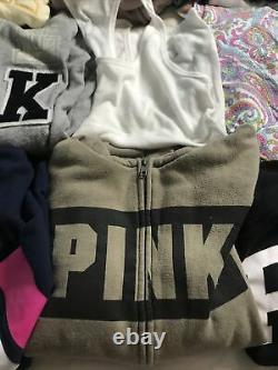 Victoria Secret PINK Lot 13 Long Sleeve Shirts Tank Pajama Hoodies Hat S XS. E