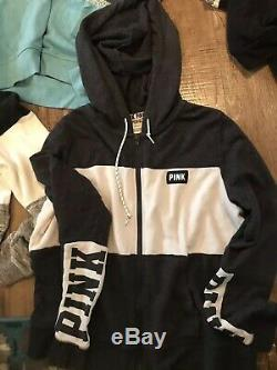 Victoria Secret PINK Misc LOT (8) Hoodies, Zip-Up, Pull Overs All LARGE