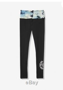 Victoria Secret PINK Oversized Green Tie Dye Campus Tee Legging Set L XL New