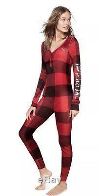 Victoria Secret PINK Pjs Pajamas Bling Thermal Onesie Small Last! Not Gerber