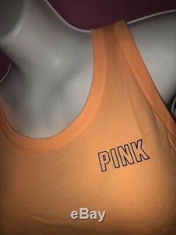 Victoria Secret PINK Ultimate V Leggings Floral Muscle Open Back Tank L Set New