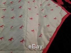 Victoria Secret PINK comforter duvet bedding 81.5x78.5 RARE