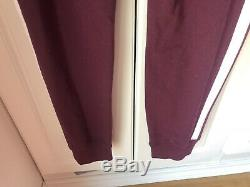 Victoria Secret PINK large Maroon/snow Leopard Reflective Cowl And Joggers HTF