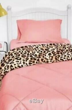 Victoria Secret Pink BED IN BAG Leopard COMFORTER SHEET SET PILLOW CASE TWIN XL