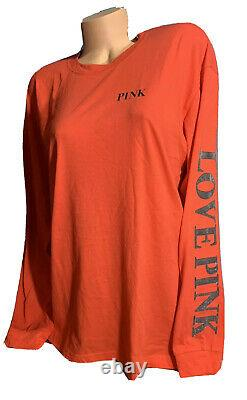 Victoria Secret Pink Bling Pullover Tee & Leggings Outfit Set Oversized XL/XXL