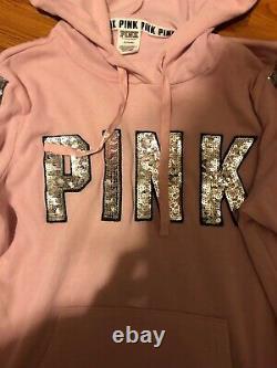 Victoria Secret Pink Bling Sequin Hoodie And Pants Set
