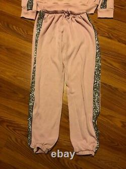 Victoria Secret Pink Bling Sequin Hoodie And Pants Set