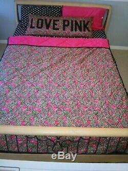 Victoria Secret Pink Comforter Bedding Set In Your Dreams Leopard Rose Twin Rare