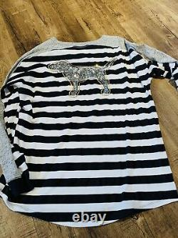Victoria Secret Pink Lot Of 4 Bling/Sequin L/S Shirts Large NWT