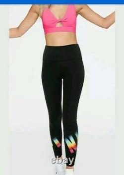 Victoria Secret Pink Rainbow Ombre Hoody Pullover& Leggings Set M